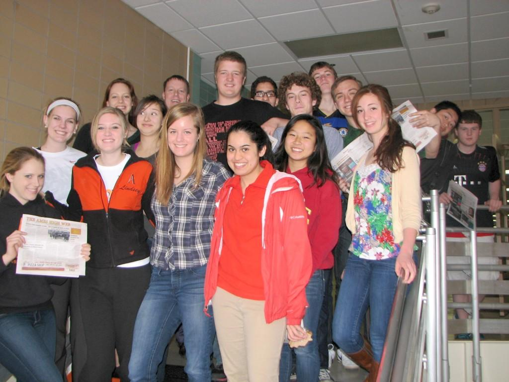 The WEB staff brings news and views to Ames High students September through May. Mem- bers of 2013 spring WEB staff: Madeline Topf, Jamie Steyer, Lindsey Tucker, Naomi Peterson, Katie Upah, Anuradha Gore, Stephanie Shin and Lily Brown. BACK ROW: Sydney DeGeest, adviser Darin Johnson, Kendall Stow, Marios Tringides, Christopher Jackson, Conor Burke- Smith, Jon Laczniak, Alex Qin and Patrick LaMar. Senior Josh Newell is not pictured.