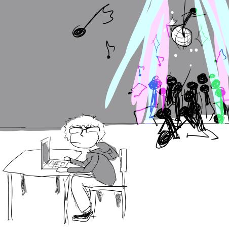 A common scene in the MC