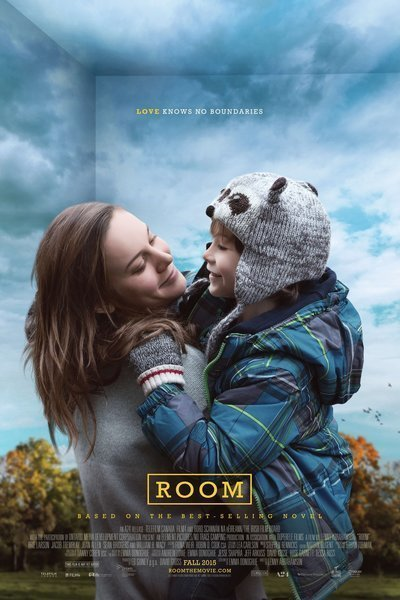 Movie poster for Room. It features Brie Larson who plays Joy and Jacob Tremblay who plays Jack.