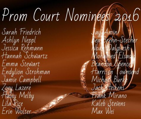 With no recorded picture of the entire prom court, I was forced to use this picture of their names.
