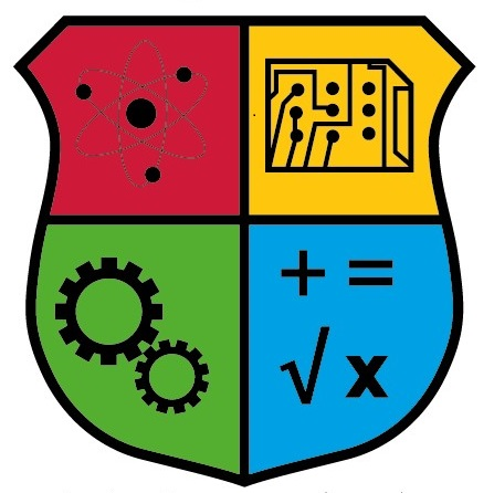 Crest of STEM Representing the 4 elements of STEM