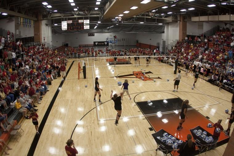 Photo of the Ames High Gym, where hopefully will be the location of not only IBall but IPong and IBad too.