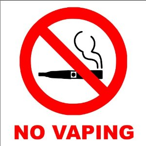 Pic Credit: Aspen Valley Vapes Example of a No-Vaping Sign, it isn't widely utilized or at all in Ames.