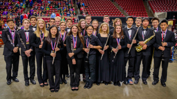 Ames Band 2016 All-State participants (photo courtesy of band director Chris Ewan)