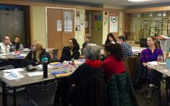 Students participate in Mental Health first aid training in February.