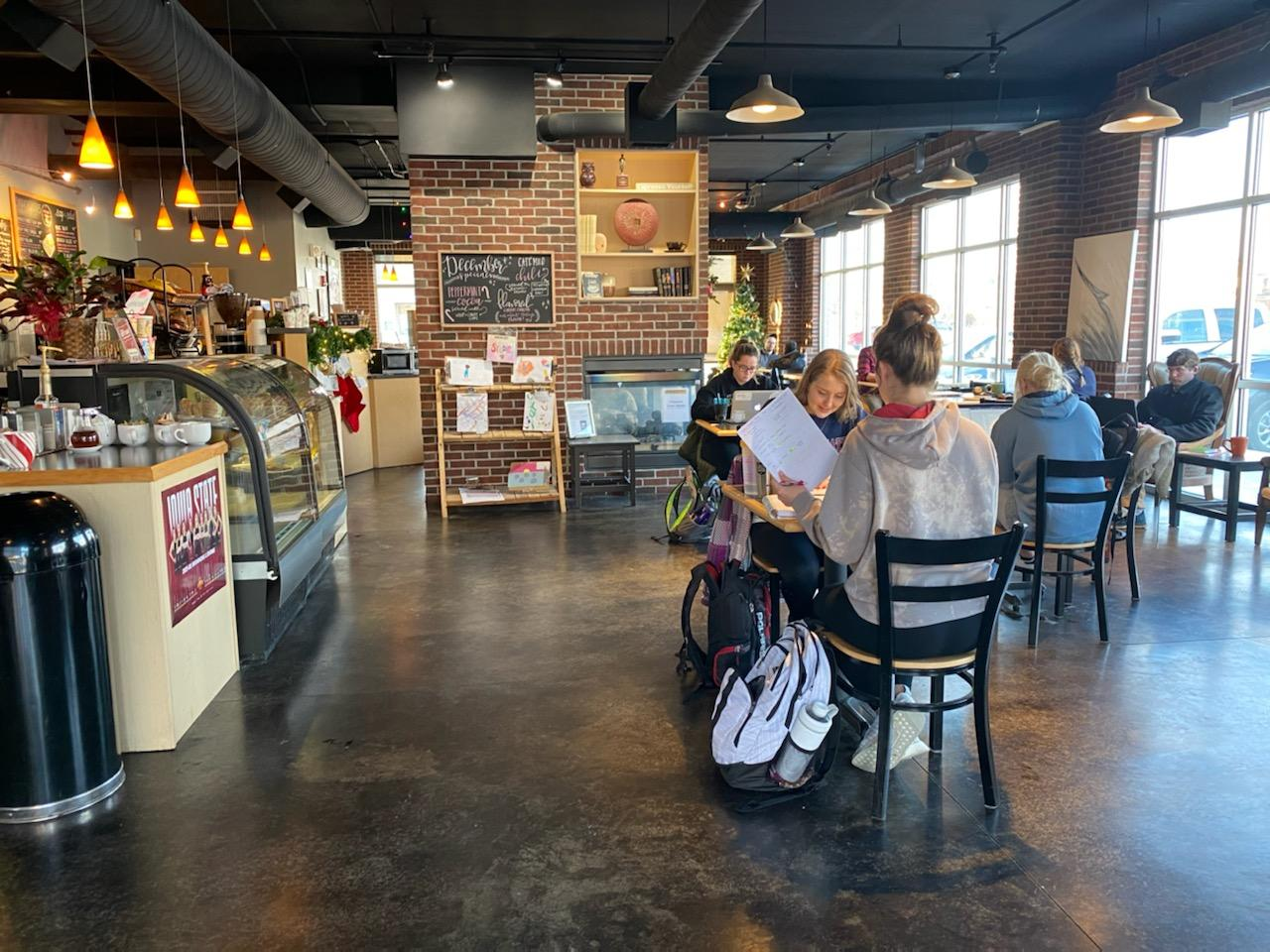 The interior of Cafe Milo in west Ames.