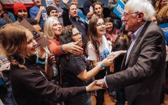 Joyful students from AHS took the opportunity to meet and hear from Bernie Sanders prior to the caucus.
