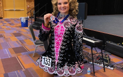 Sam at an Irish dancing competition.