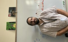 Mr. Grapp in his classroom.