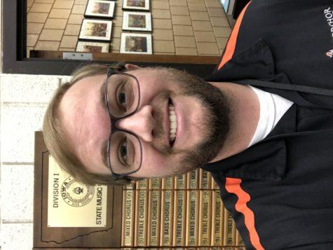 Joe Strong, the latest chorus teacher at Ames High.