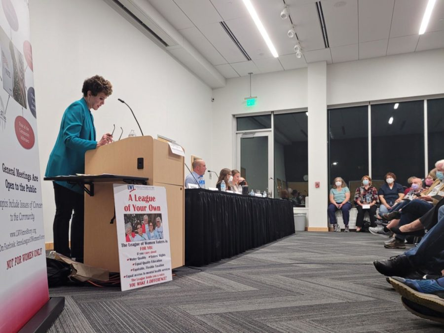Seven school board candidates sat down at the Ames Public Library to answer voters questions.